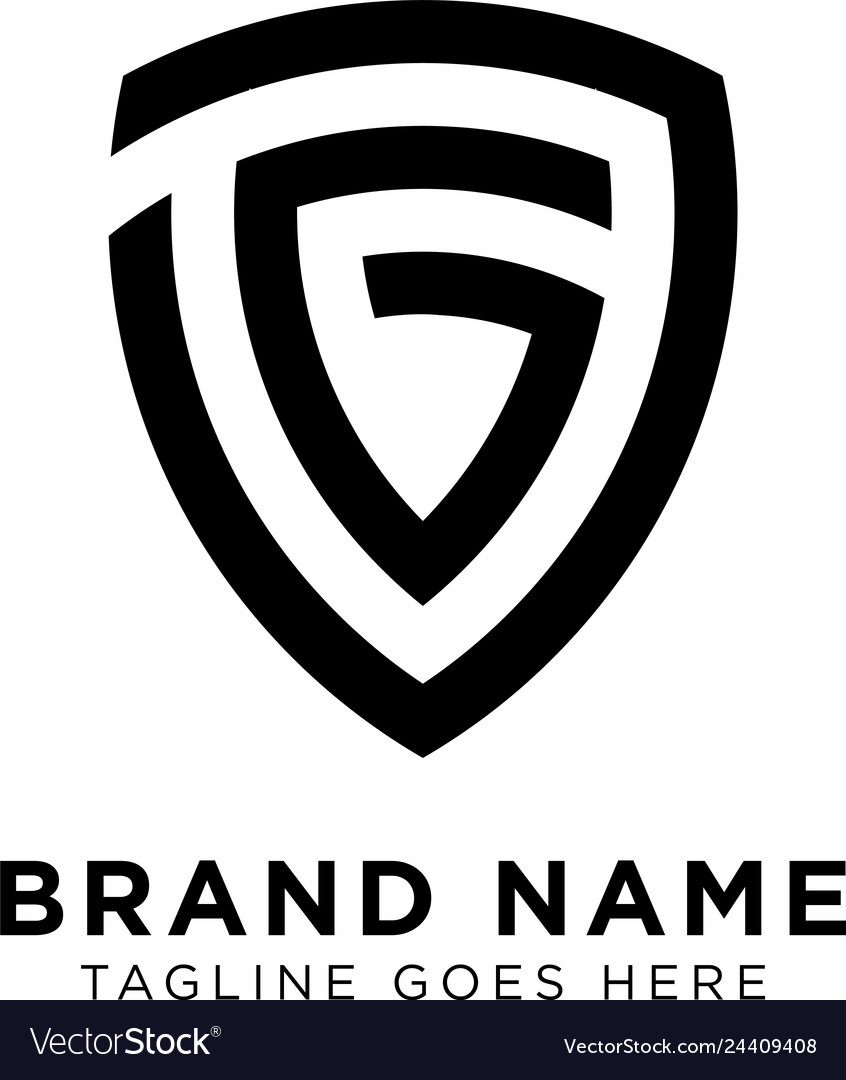 Initial g shield logo design inspiration