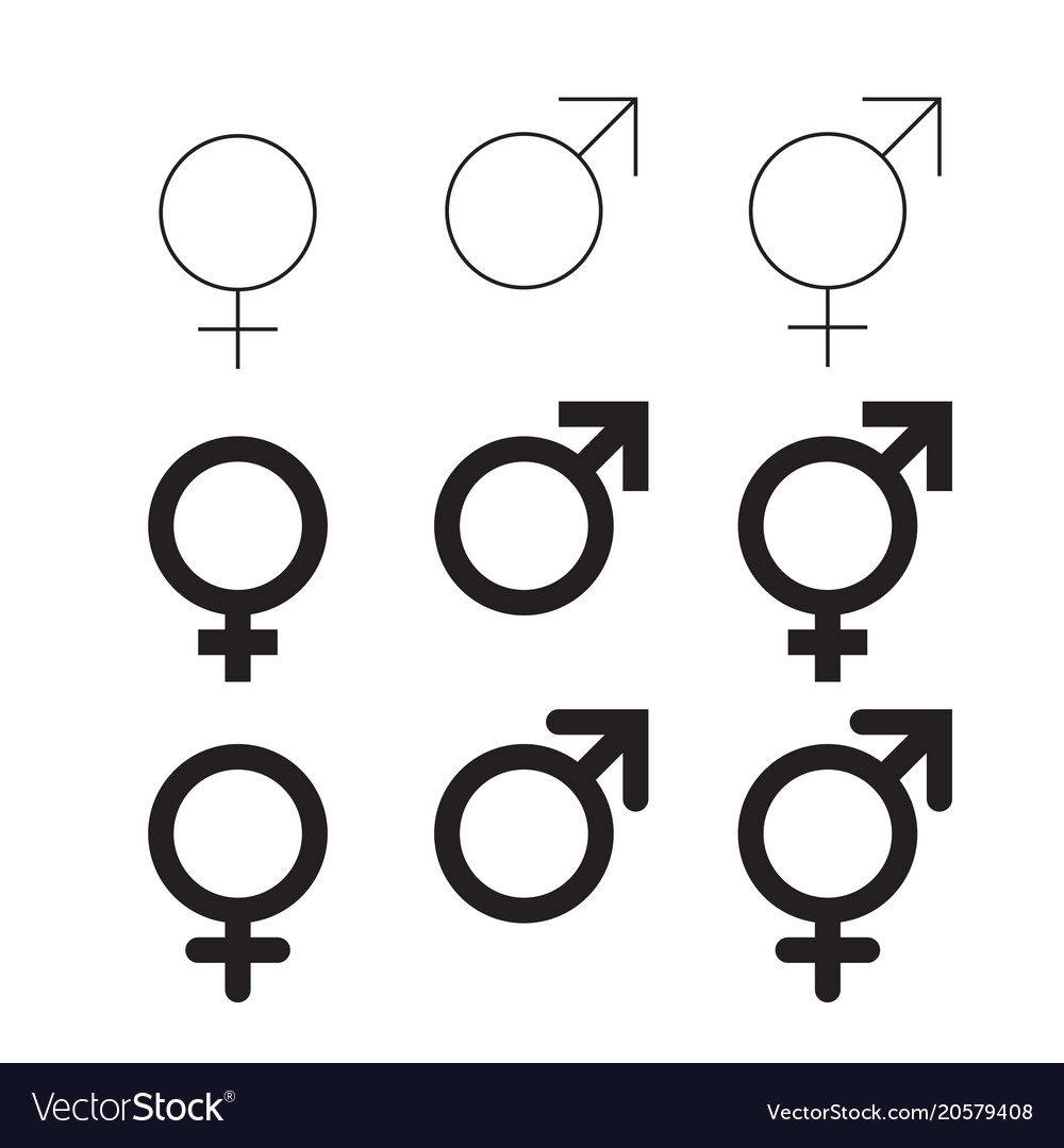 Male And Female Isolated Gender Symbols Royalty Free Vector