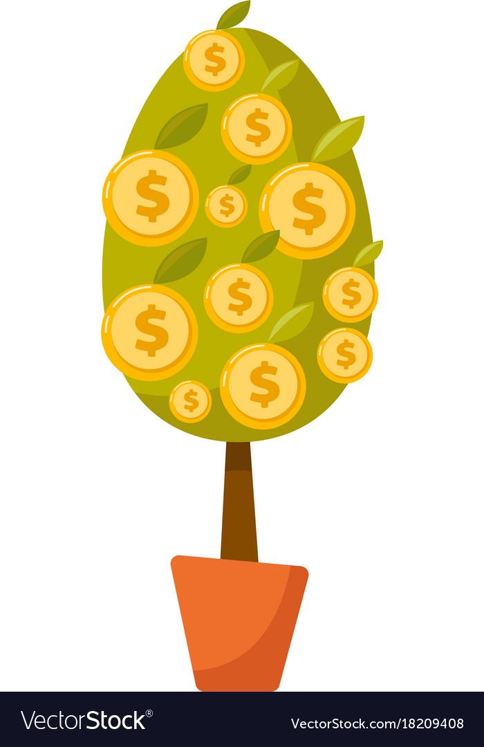 Money Tree With Coins Cartoon Royalty Free Vector Image .money moneytree myself original pen persona seria serious serpiente snake tree treeofknowledge originalcartoon yomisma billetes huawei bicolorhair moneybills zivichi zivichipersona annoyed. vectorstock