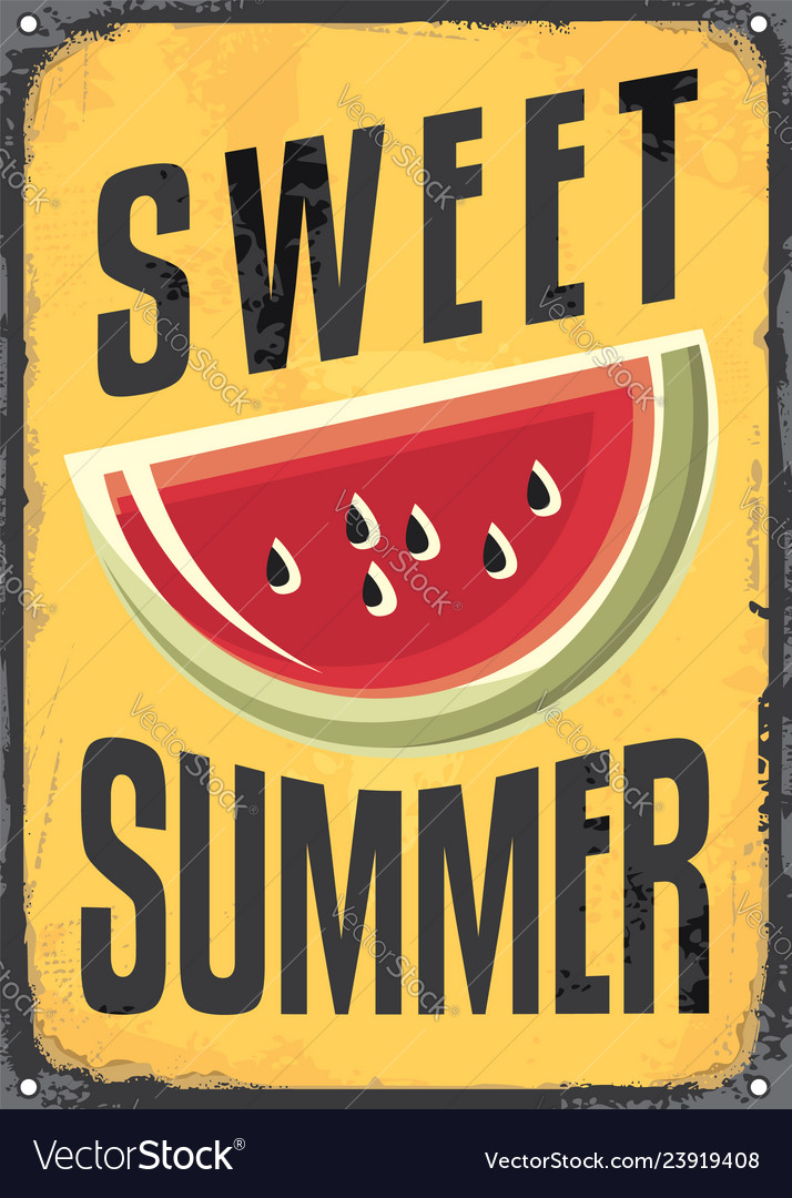 Sweet summer vintage sign