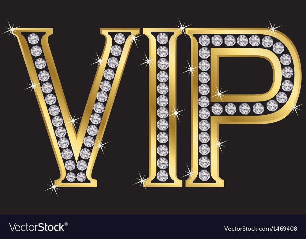 VIP Badge vector image