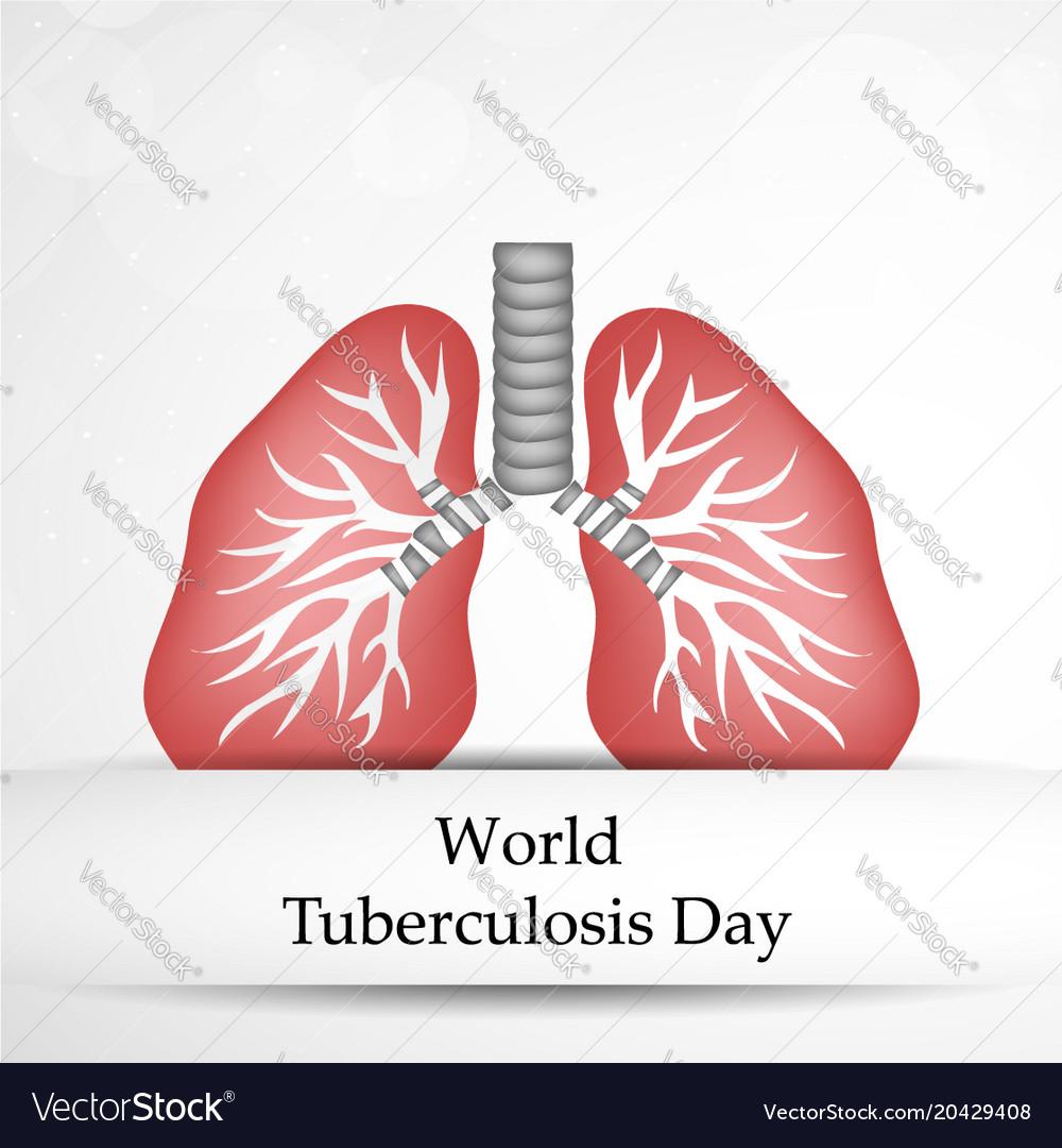World Tuberculosis Day Royalty Free Vector Image