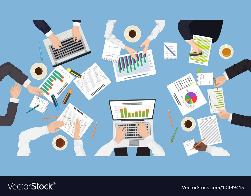 Business management teamwork discuss meeting vector image