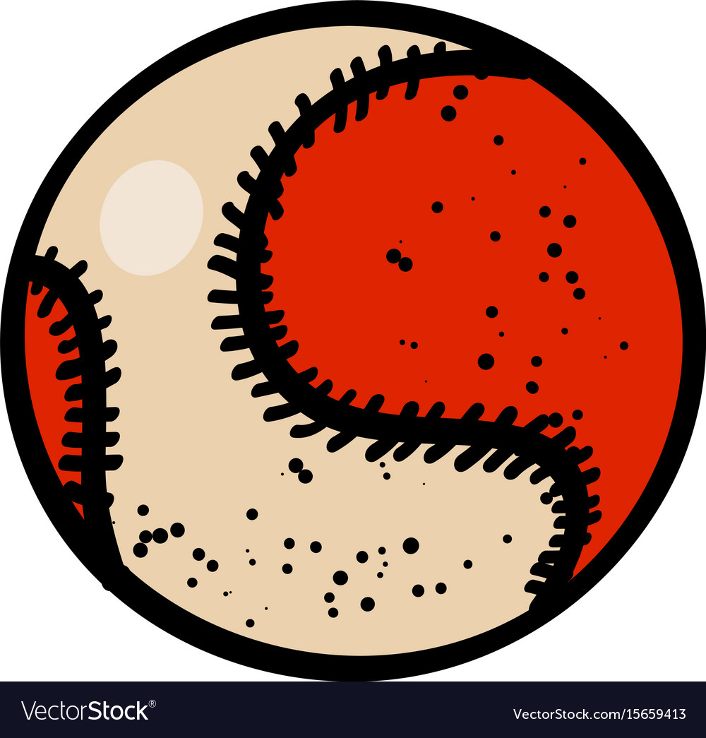 Cartoon image of baseball ball