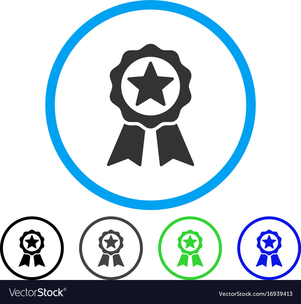Certification Seal Rounded Icon Royalty Free Vector Image