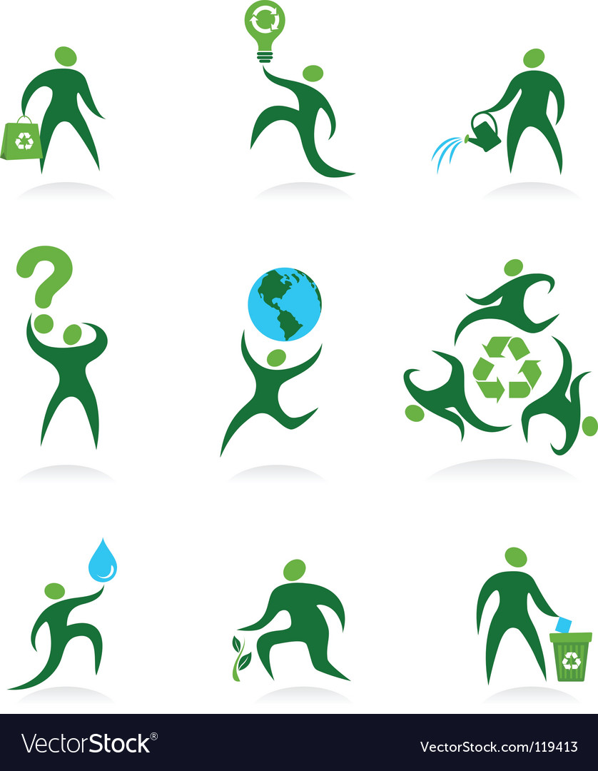 Eco man icons