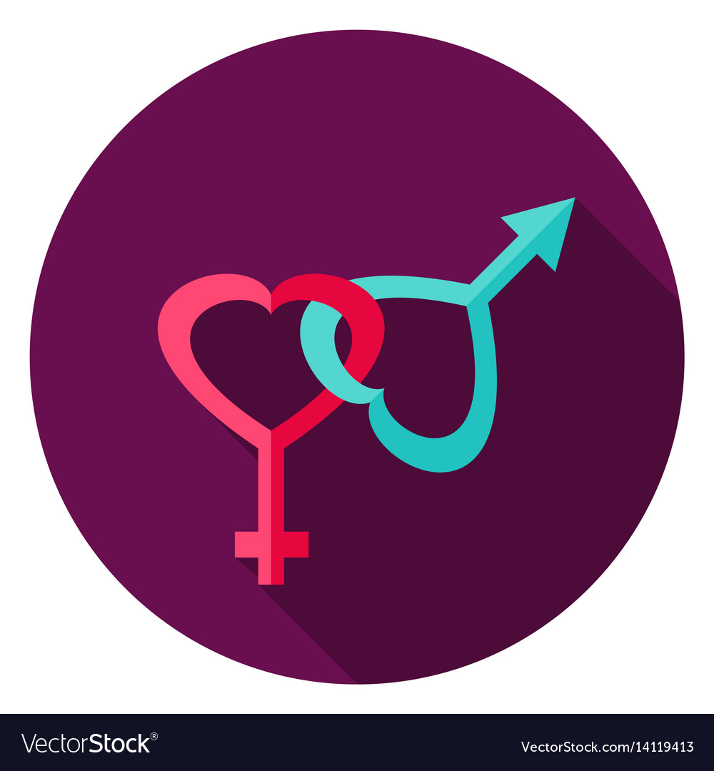 Gender circle icon vector image