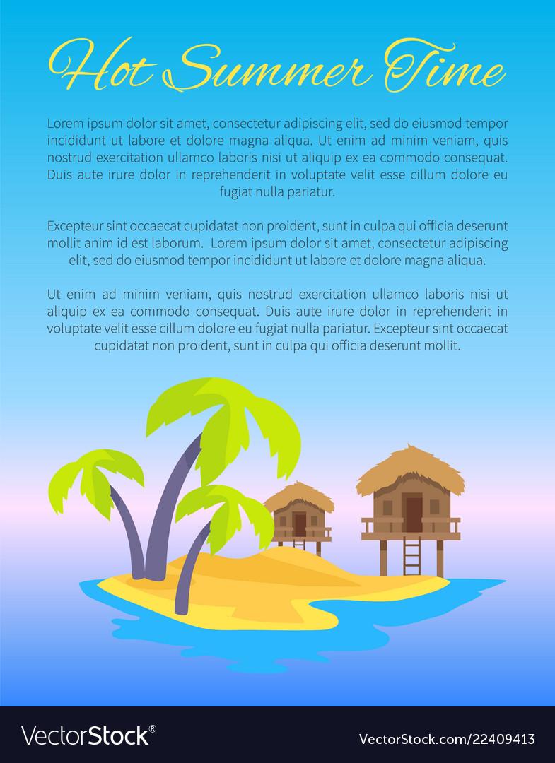 Hot summer time blue poster