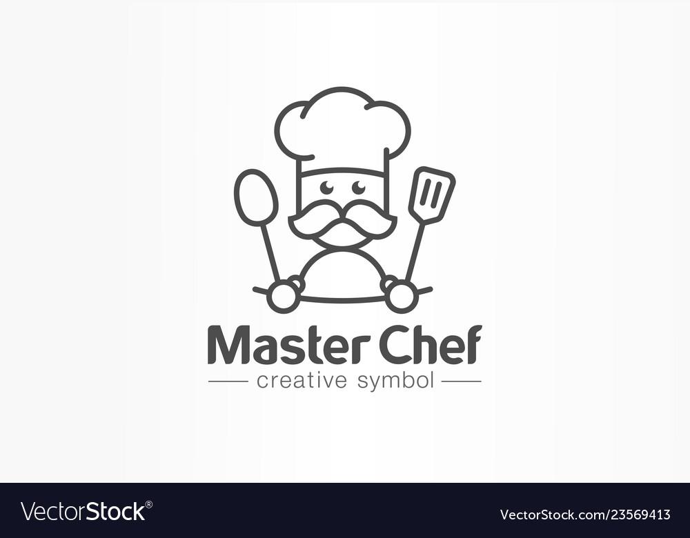 Master chef creative symbol concept cook mustache