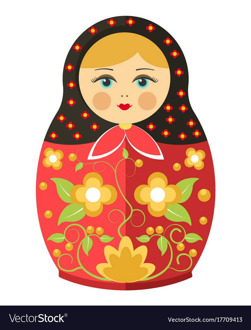 Matryoshka doll or russian nesting doll floral