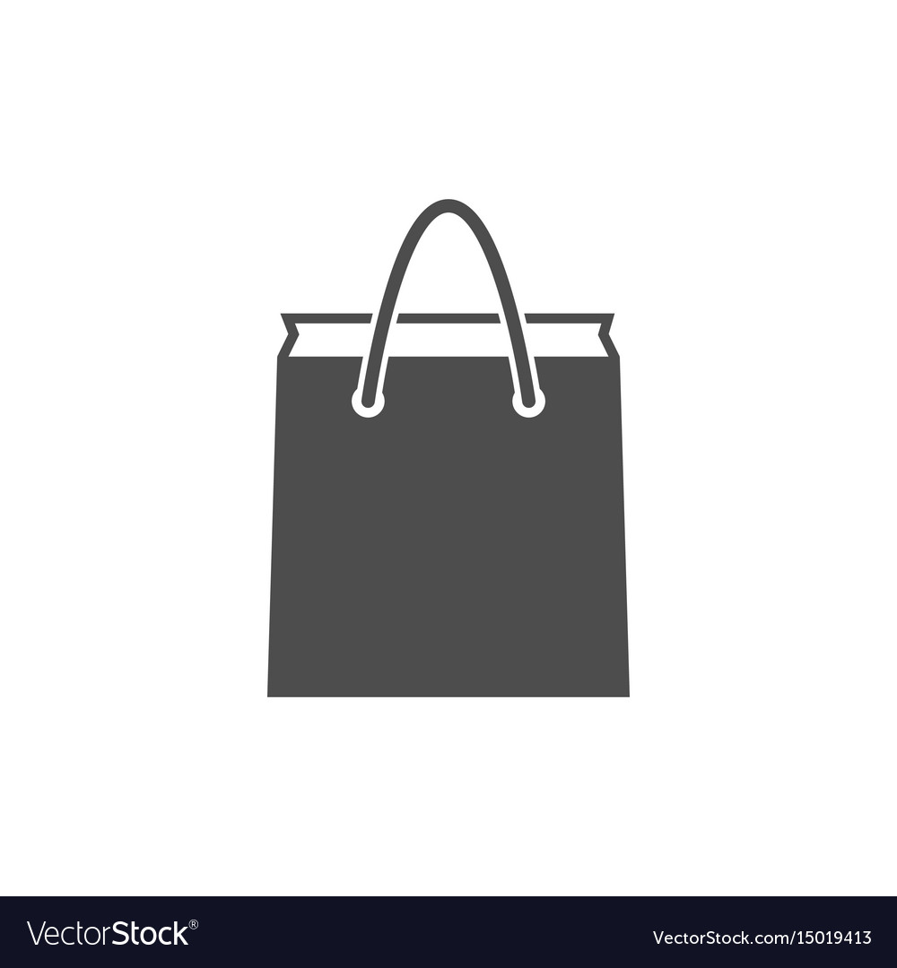 Paper Bag Icon Royalty Free Vector