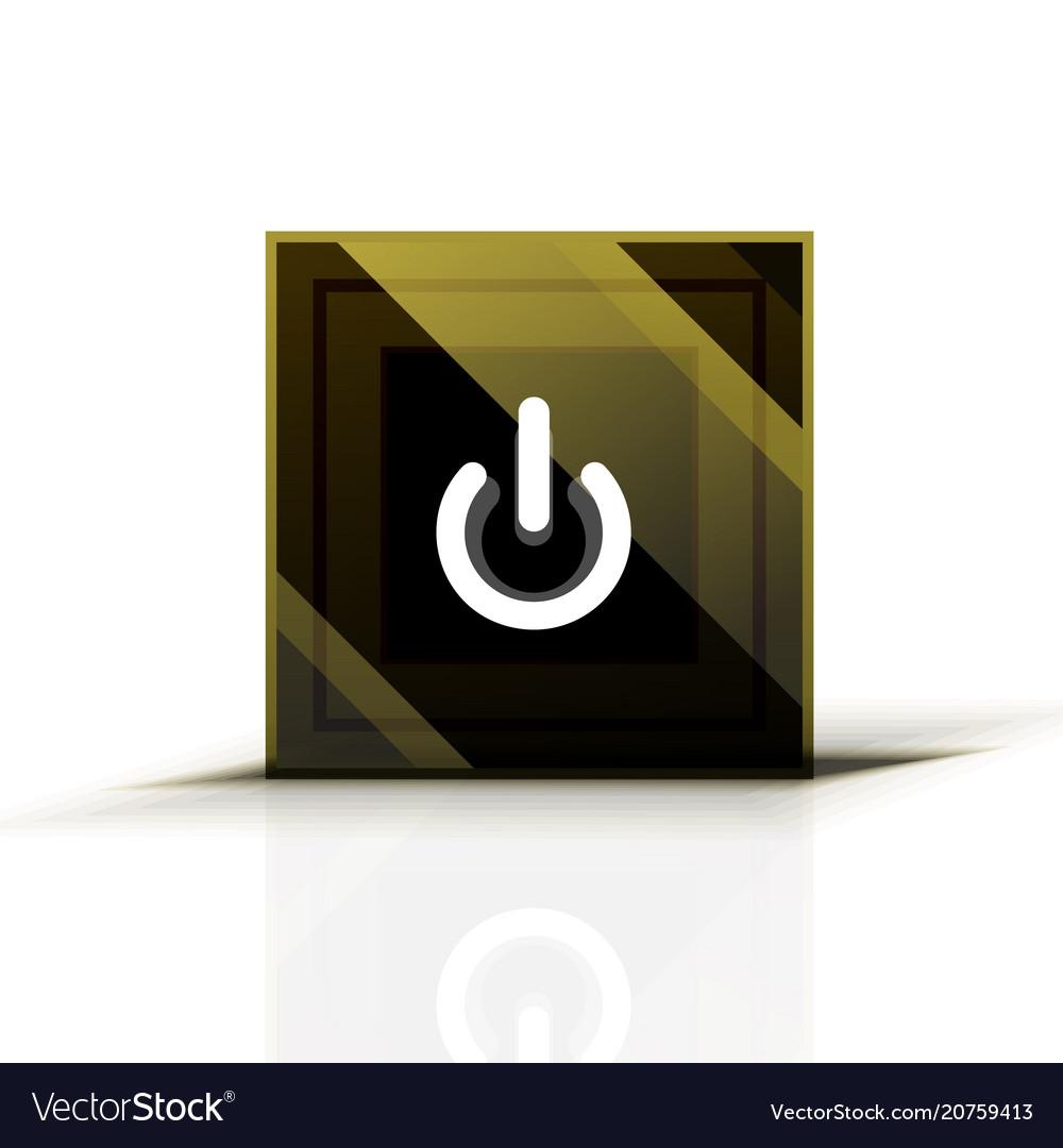 Power button icon start symbol web design ui or