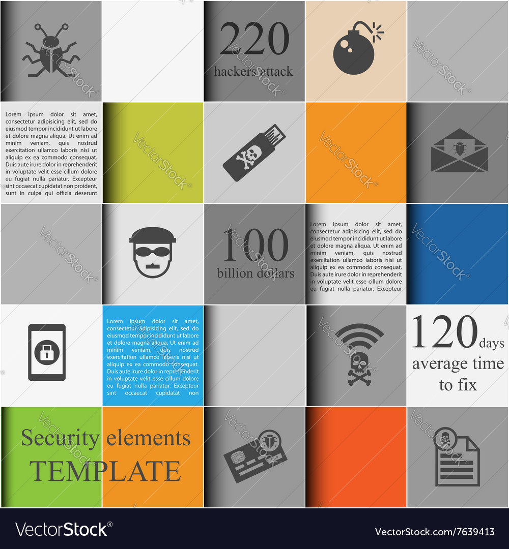 Security elements template