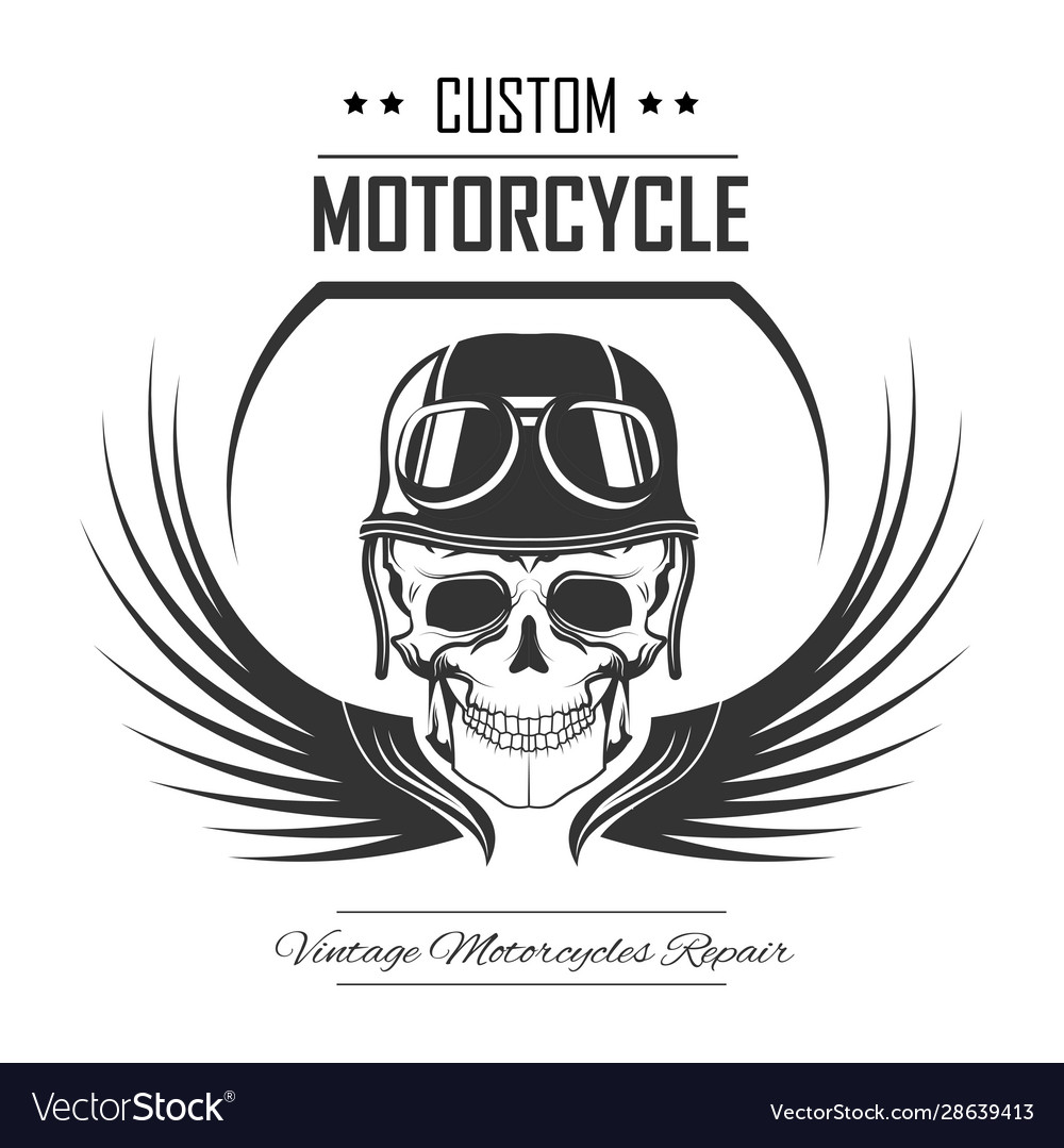 Skull in helmet and wings isolated icon