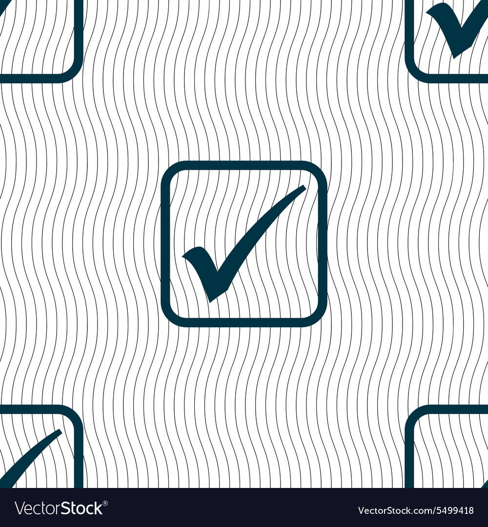 A check mark icon sign Seamless pattern with