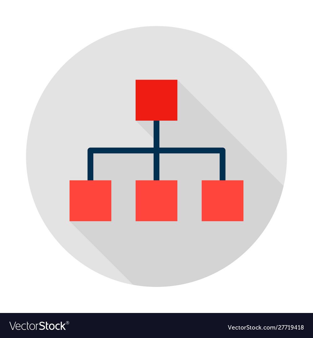 Classification graph circle icon