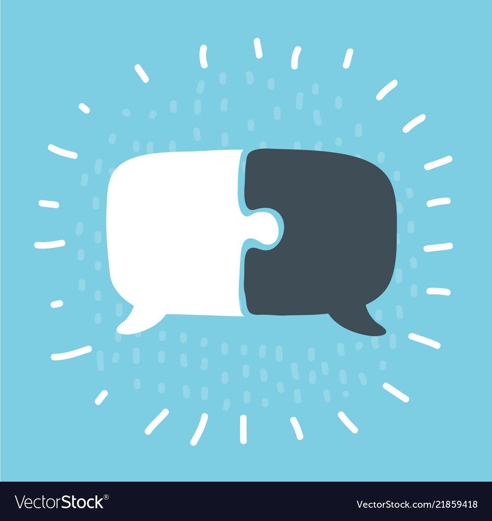 Communication with speech bubble