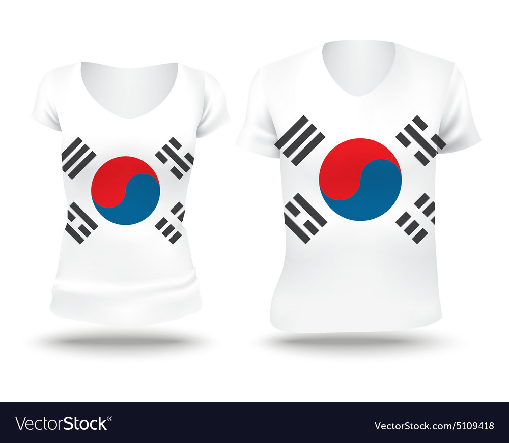 Flag shirt design of South Korea