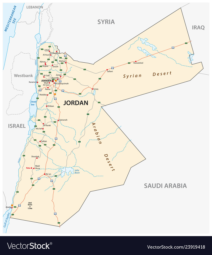 Kingdom of jordan road map