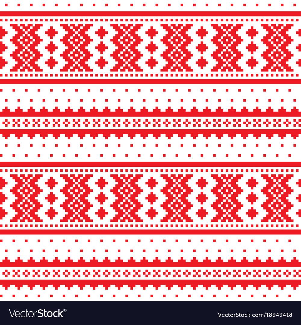 Winter cross-stitch pattern sami art