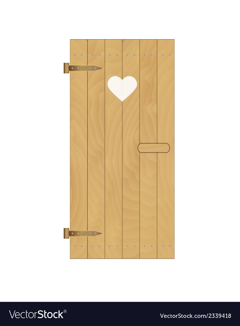 Wooden door with heart