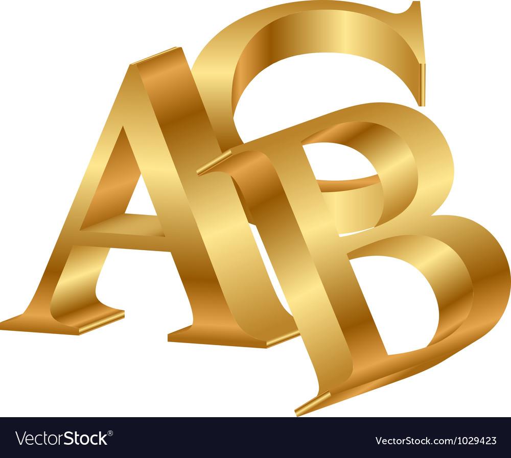 Abc gold letters