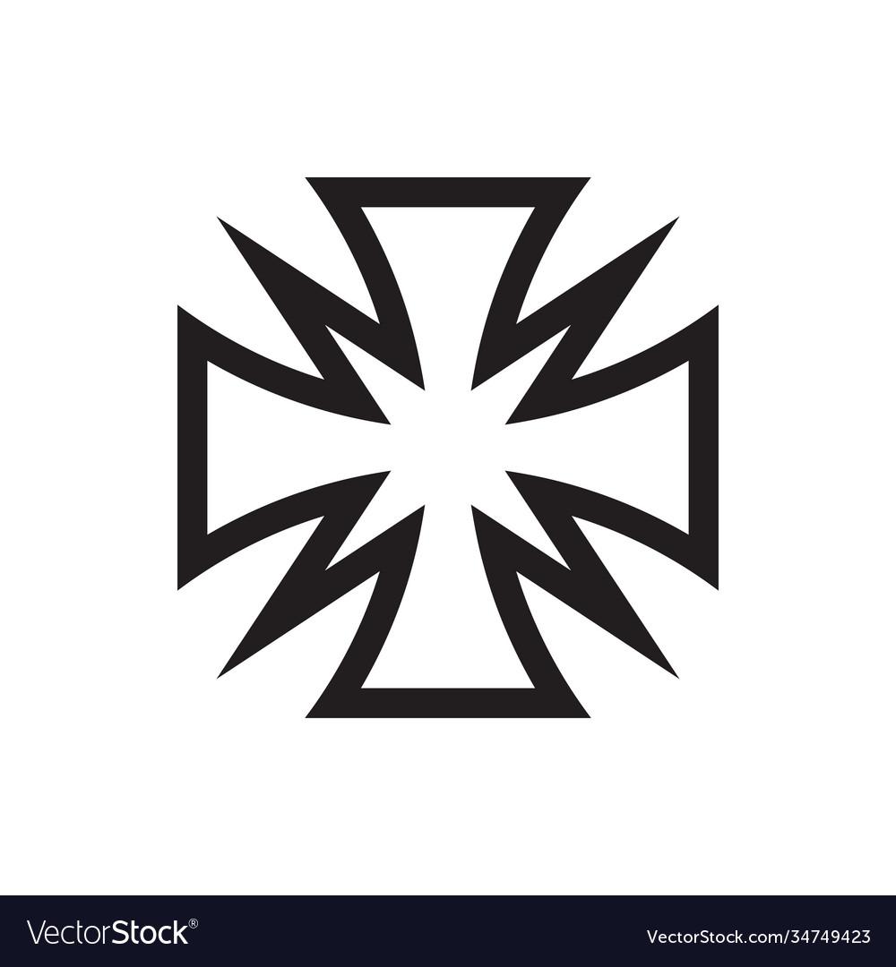 Cross icon design maltese sign