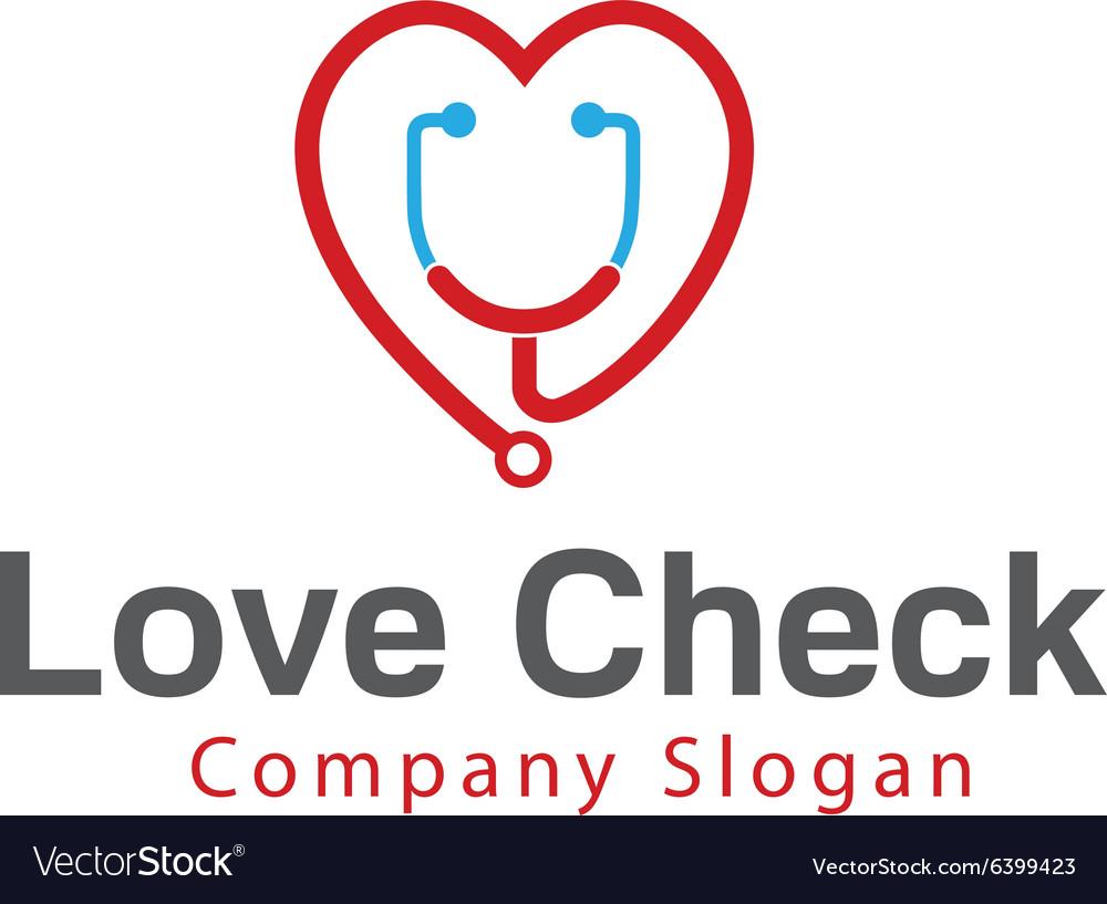 Love Check Design vector image