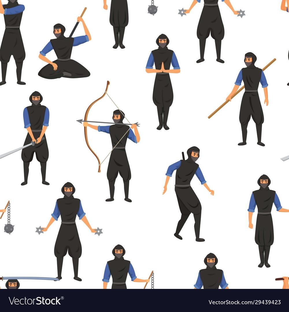Ninja assassin movement and fighting skills
