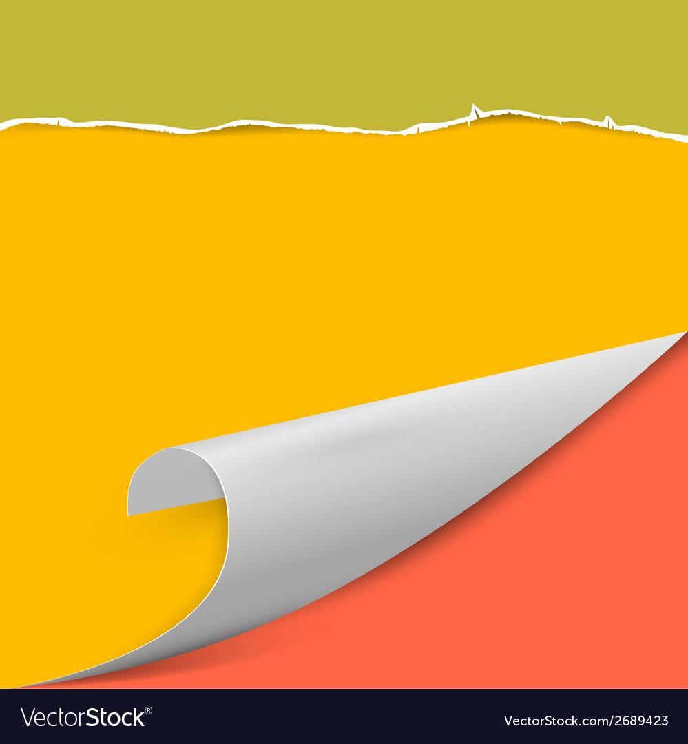 Torn Paper Background with Bent Corner