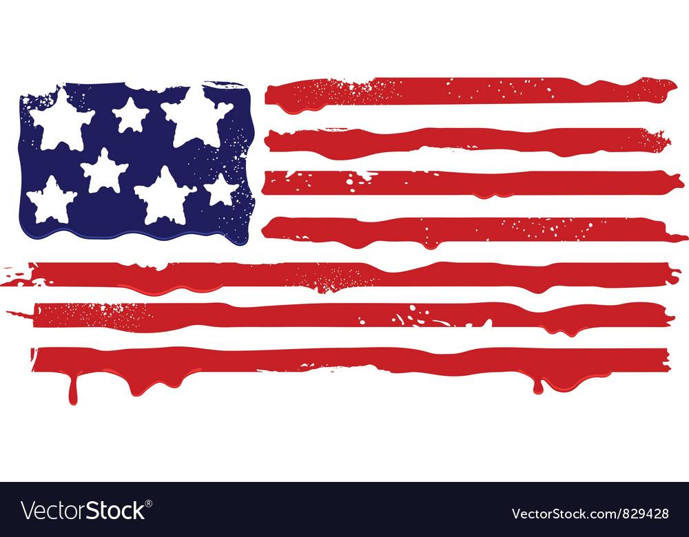 Abstract grunge flag of USA vector image