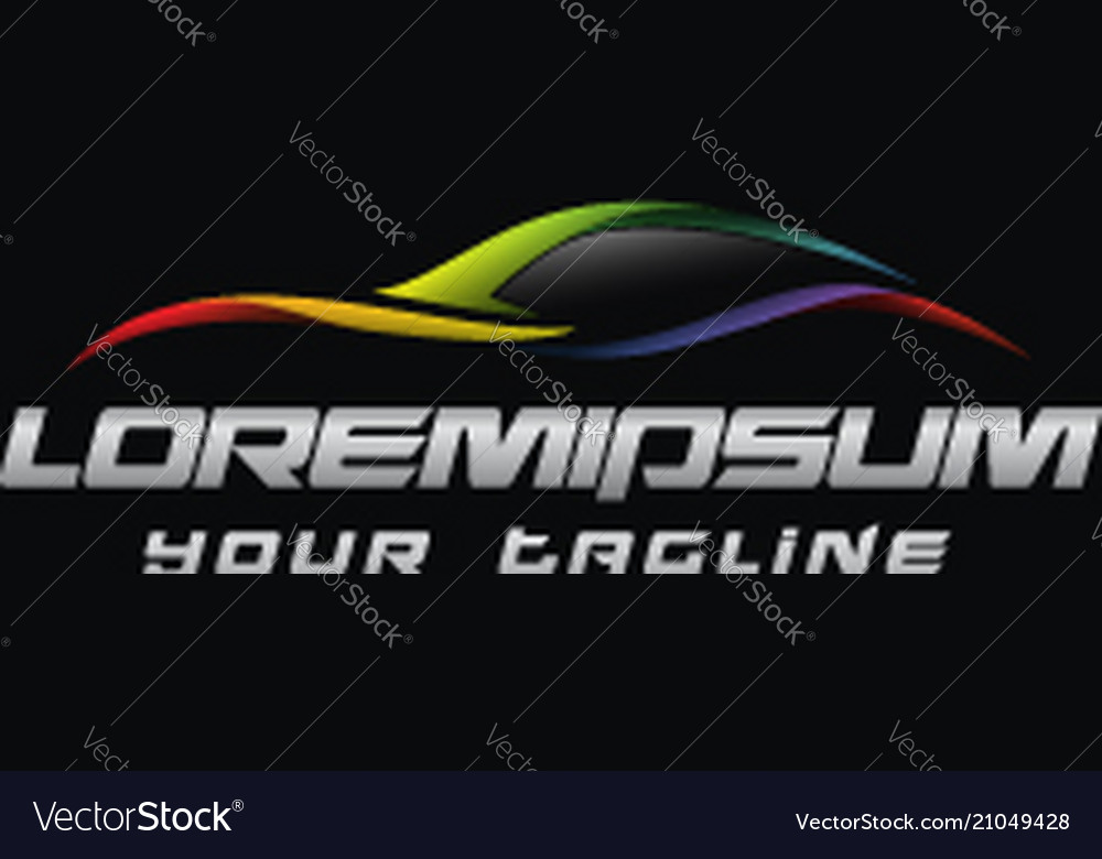 Automotive logo concept design templates