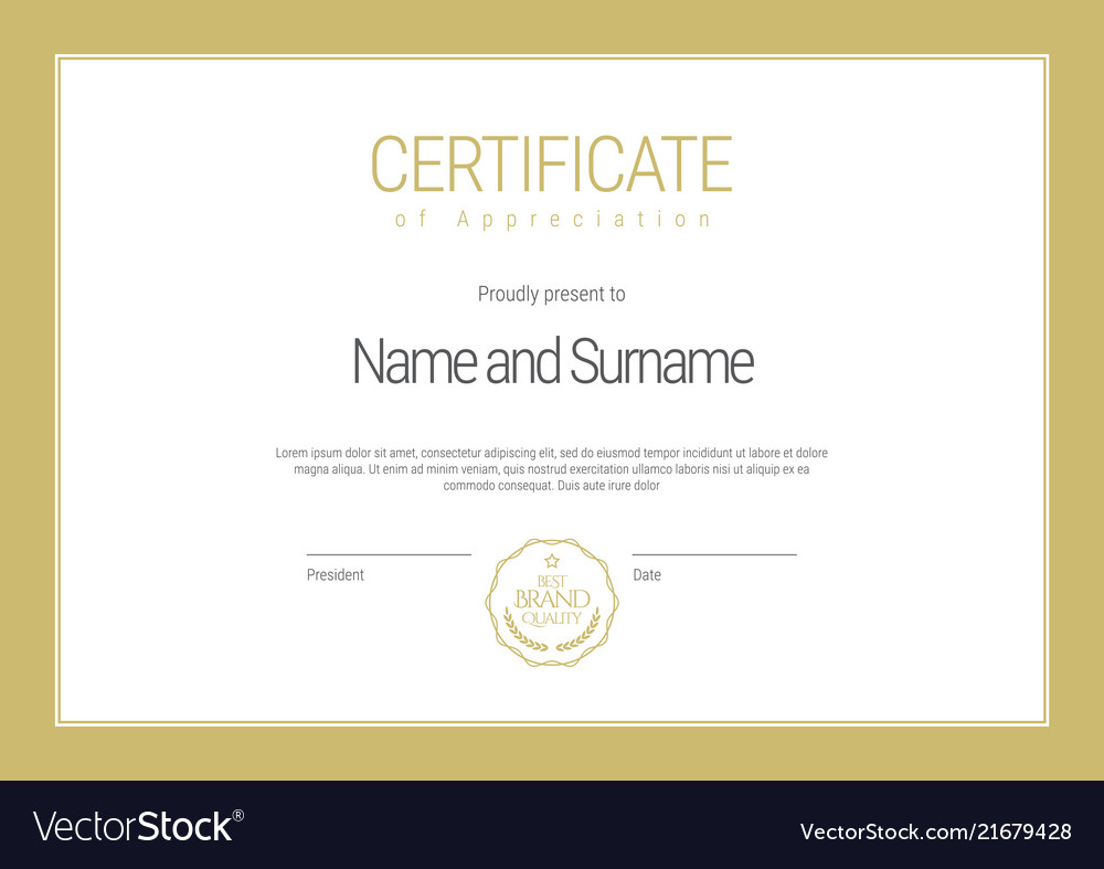 Certificate template diploma of modern design or
