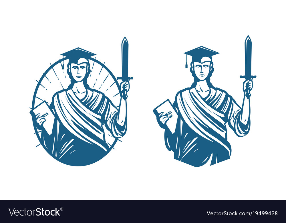 Education legal services logo notary justice