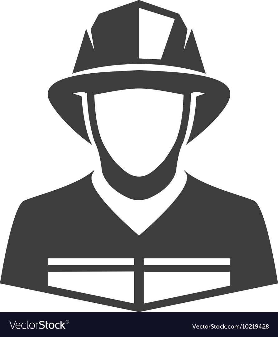 Icon fireman vector image