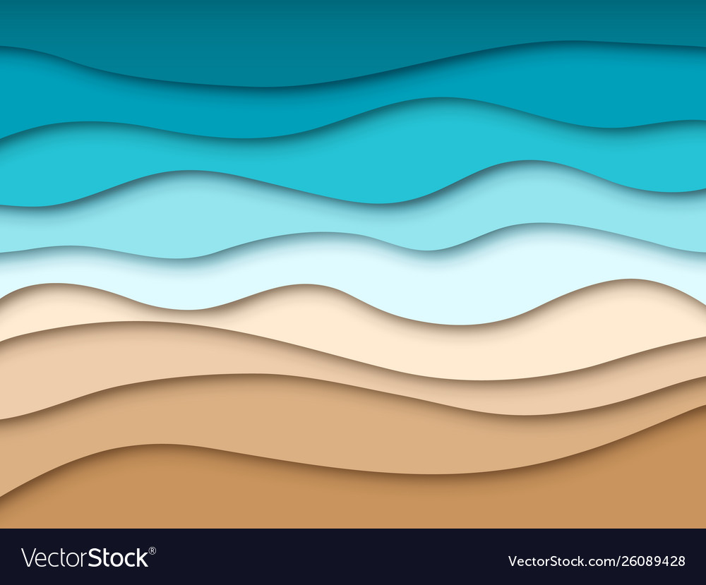 Paper sea beach abstract ocean summer travel