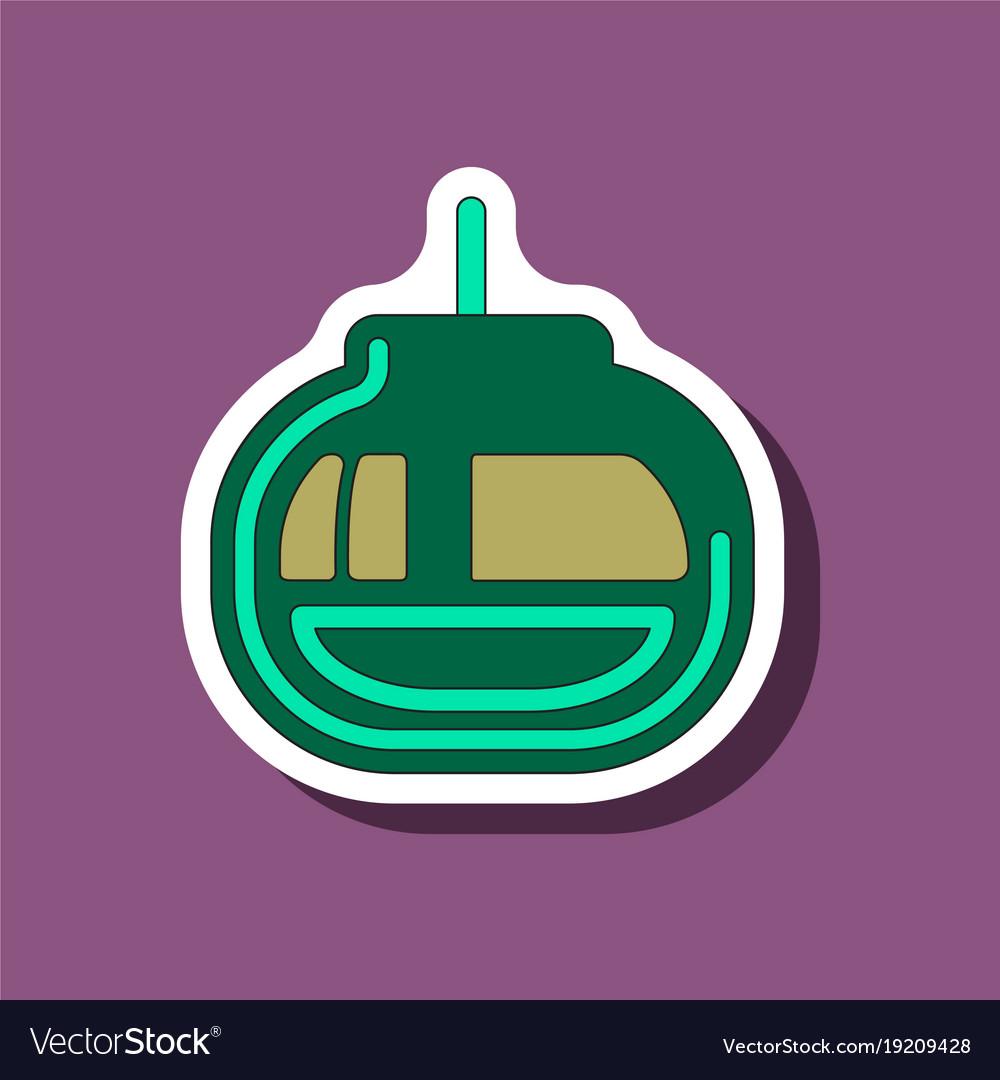 skiing icon set