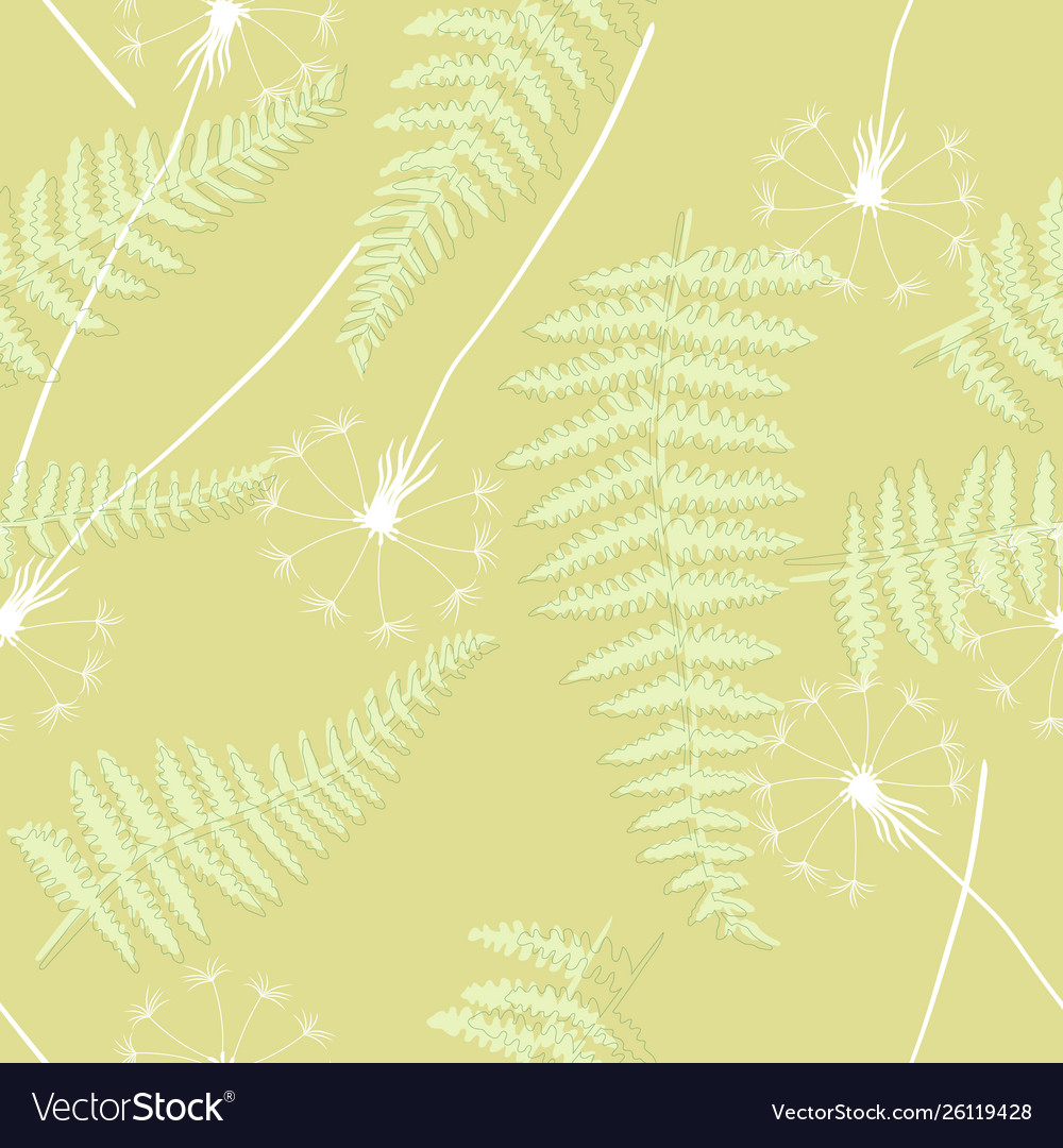 Retro floral seamless background with dandelions