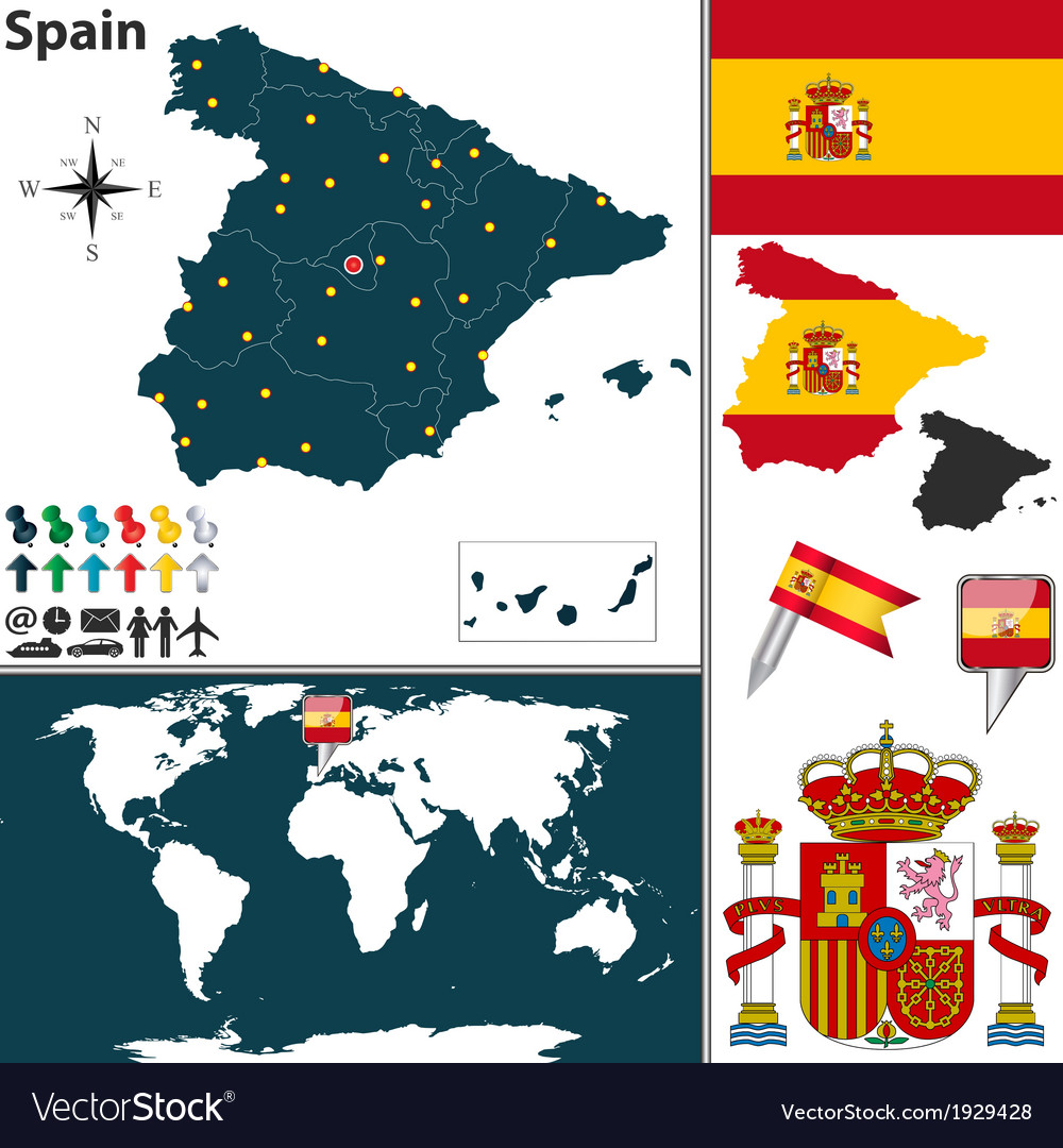 Spain map world
