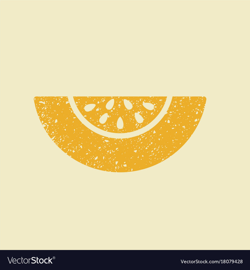 Stylized flat icon of a melon
