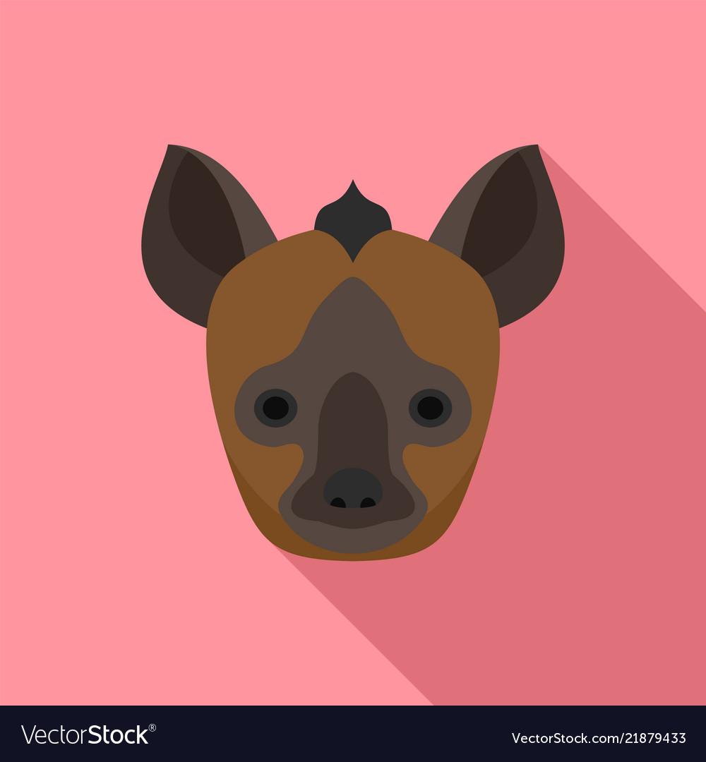 Bat head icon flat style
