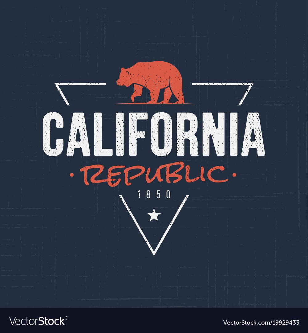 California republic t-shirt and apparel design