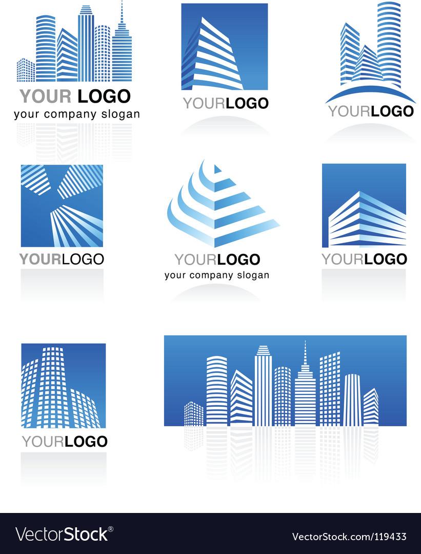 City real estate logo vector image