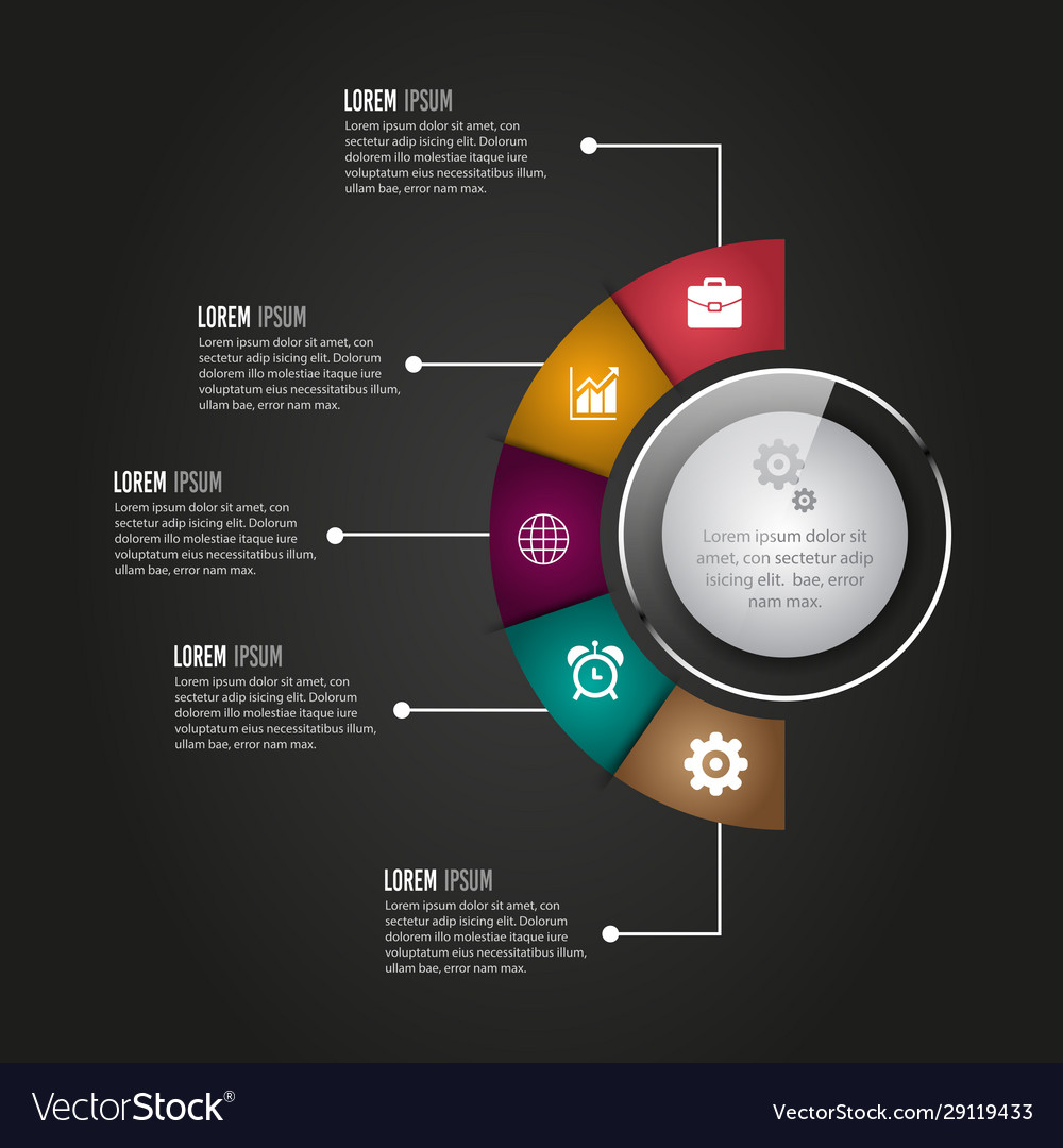 Digital business infographic design
