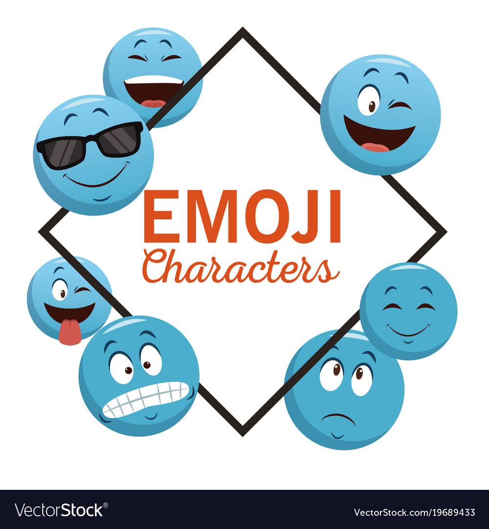 Emoji chat characters
