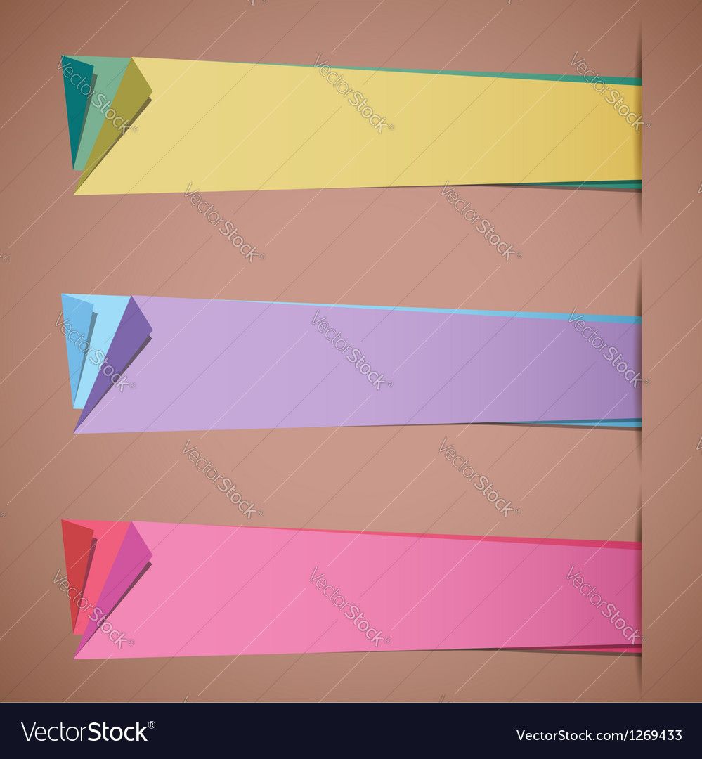 Folded paper blank colorful sticker templates