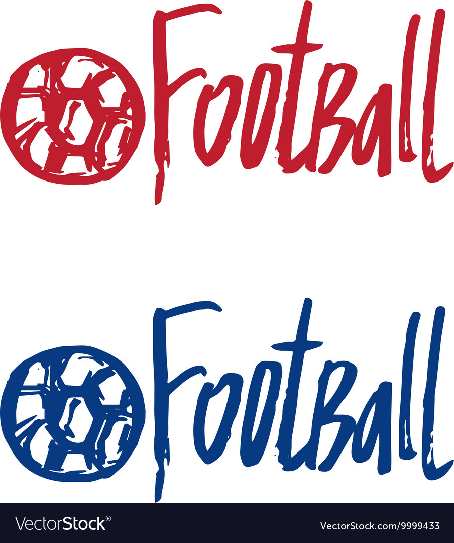 Hand drawn concept logo with text Football