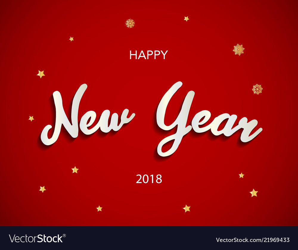 Happy new year 2018 background with gold