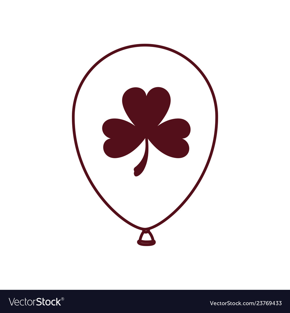 Helium green balloon with clover isolated icon