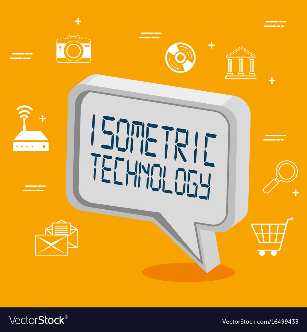 Isometric technology 3d concept vector image